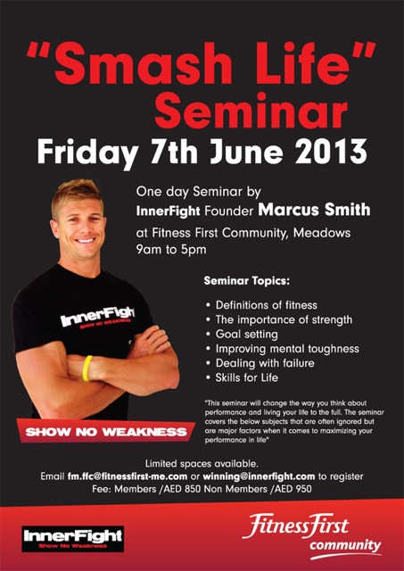 Smash Life seminar Dubai June 7th – Seminar Flyer