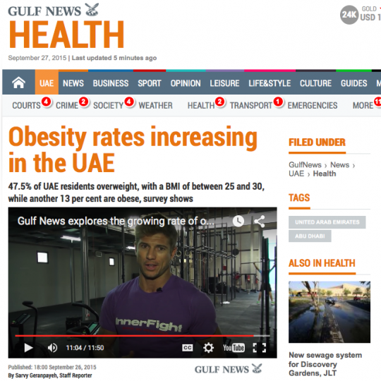 Obesity in the UAE