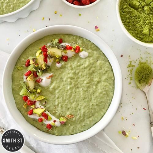 Paleo Matcha Chia Pudding